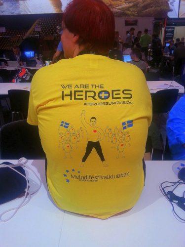 Švedijos fanų marškinėliai