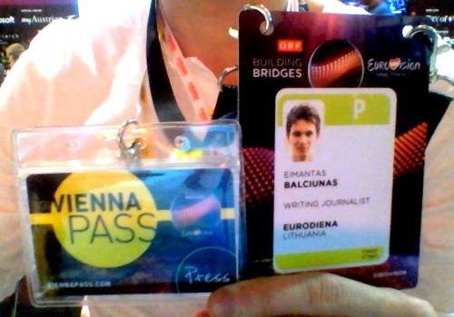 """Žurnalisto akreditacija ir """"Vienna Pass"""""""