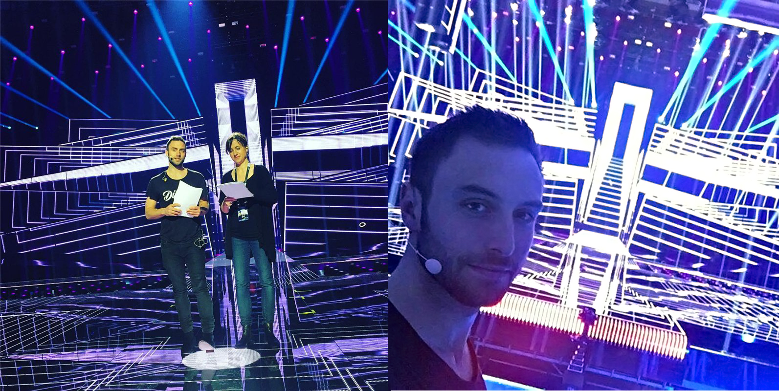"""Prasidėjo """"Eurovizijos 2016"""" vedėjų repeticijos / M. Zelmerlöw asmeninio archyvo nuotr."""