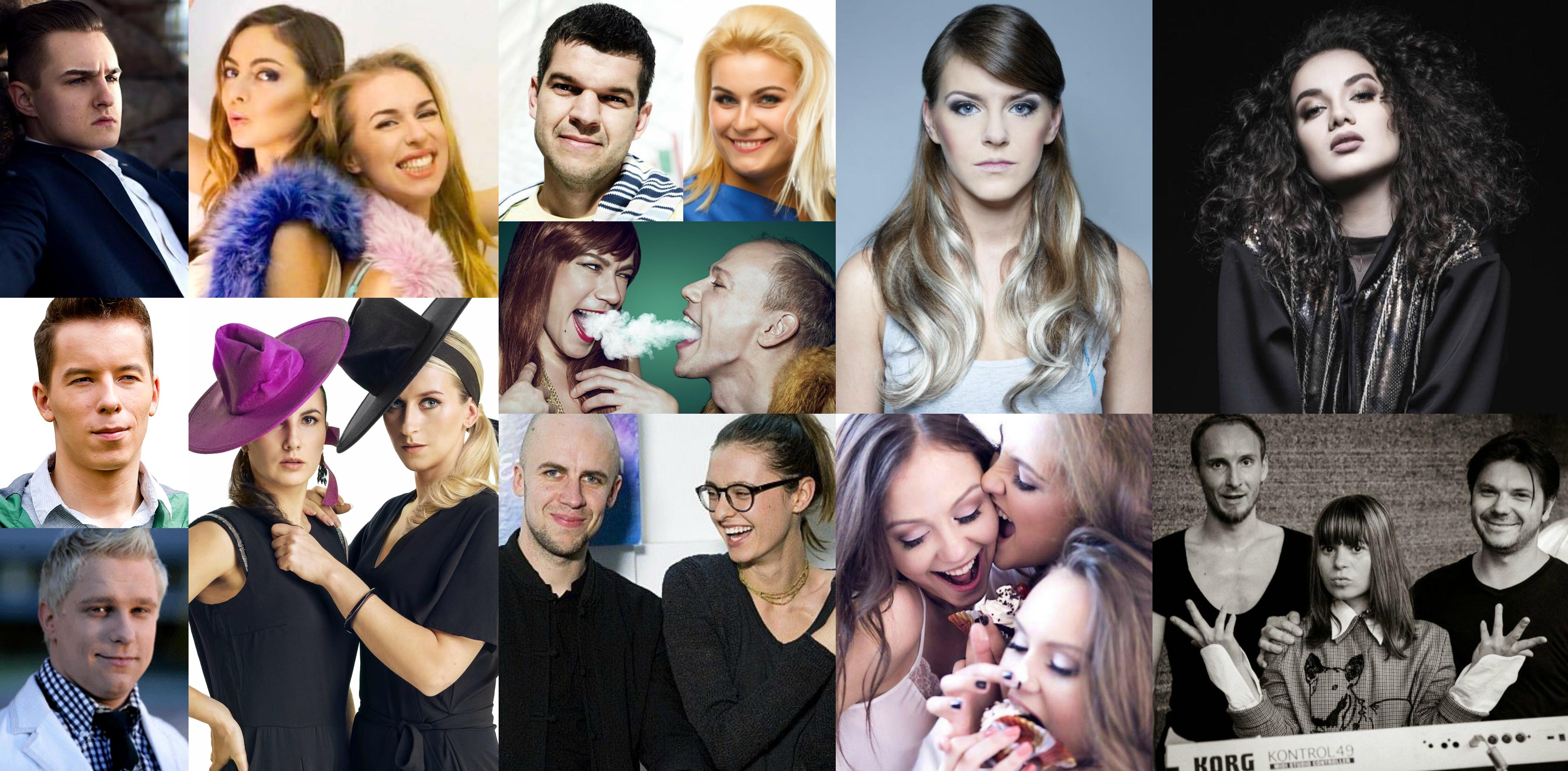 """Trečiosios nacionalinės """"Eurovizijos"""" atrankos laidos dalyviai"""